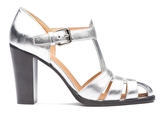 Shine Calf Heeled Sandal