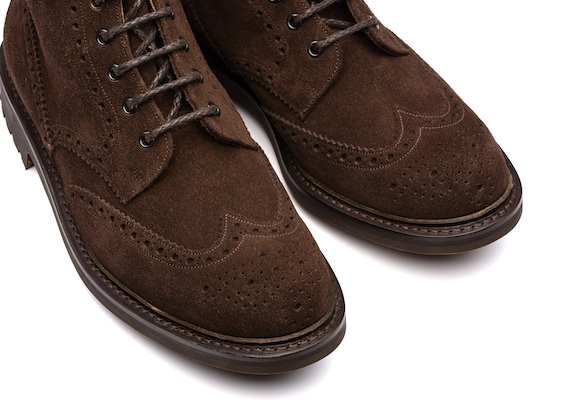Mac farlane 2 Church's Suede Lace-Up Boot Brogue Brown