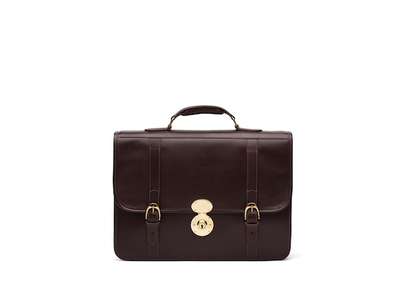 Briefcase in Buck Leather